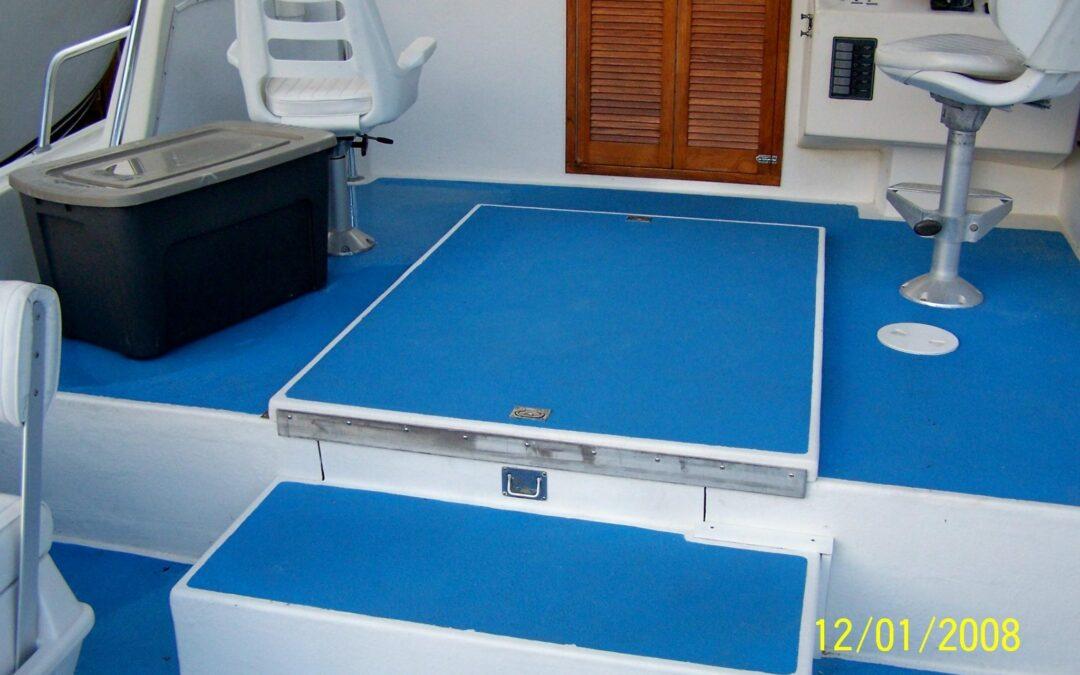 Non Slip Coating for Safe Footing on Boat Decks