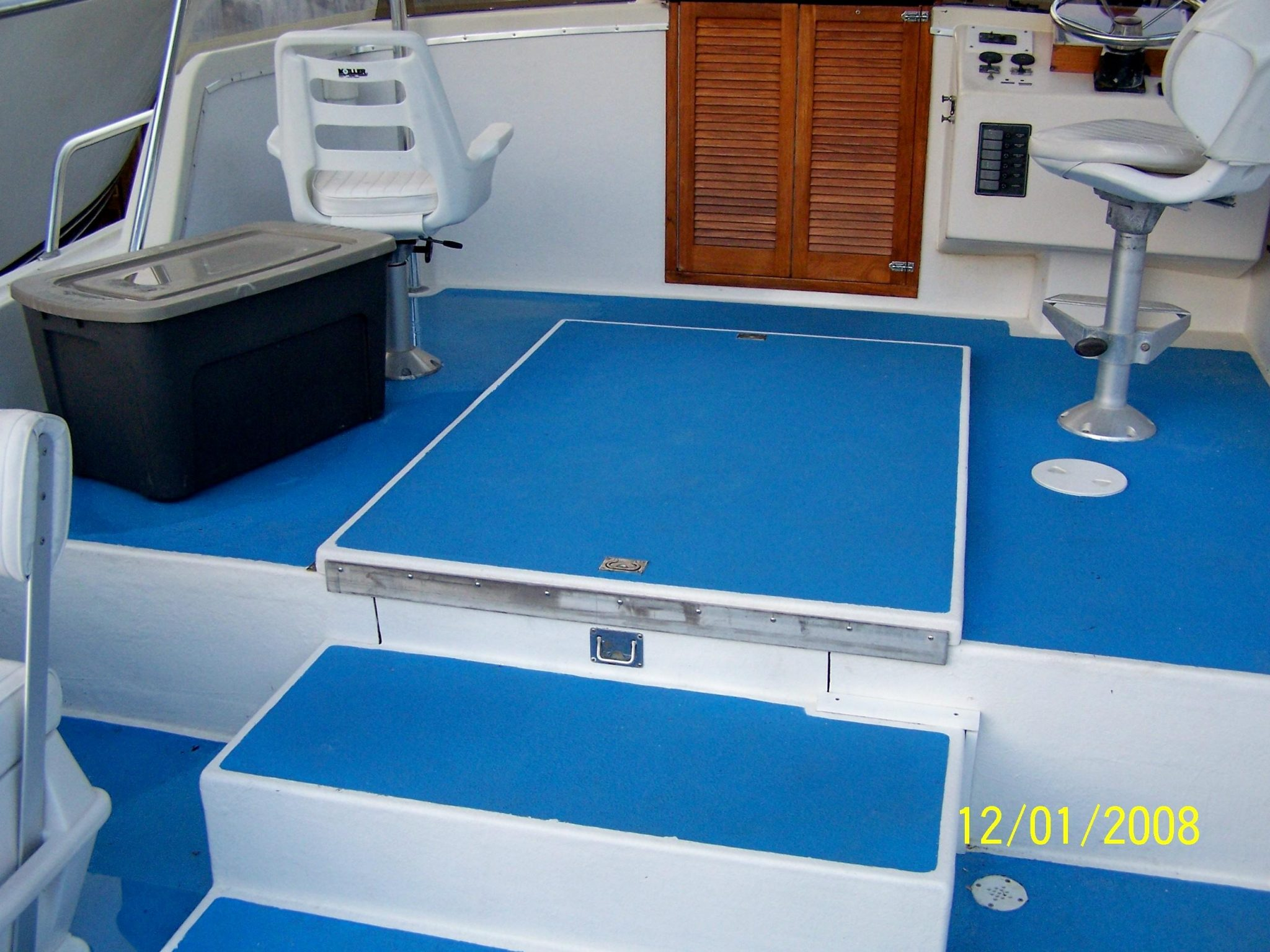 Non slip coating for safe footing on boat decks acry for Boat non slip deck paint