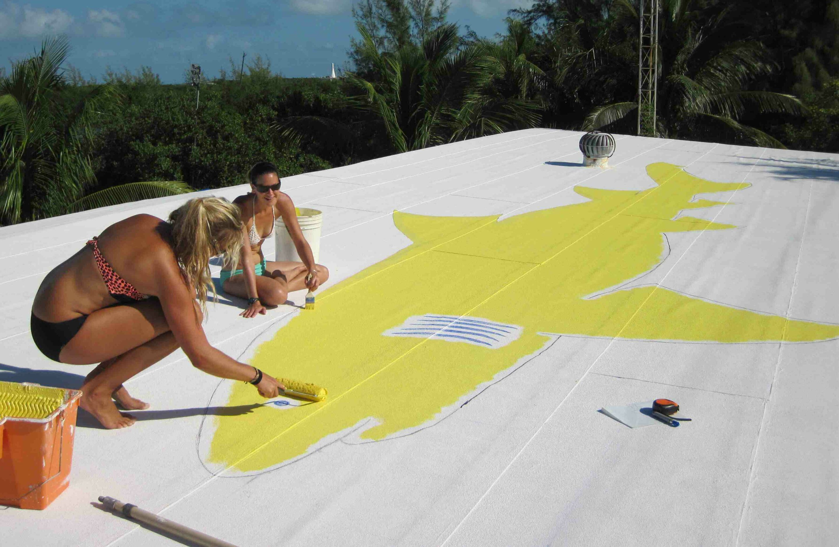 painting on a cool roof acry tech coatings