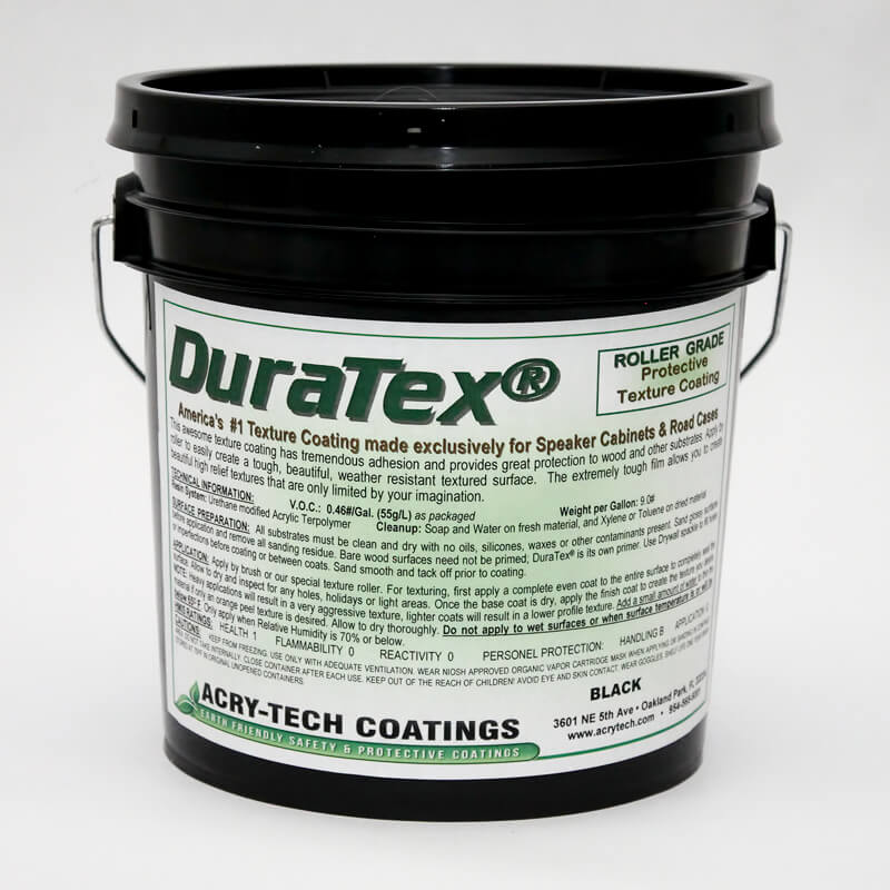Speaker Cabinet Coating - DuraTex® Roller Grade: Black 1 Gallon ...