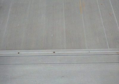 3. But, when wet the ramps were very slippery. Students and teachers have slipped and fallen on these slippery ramps and some were injured.