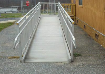 1. The Howard County Public Schools in Maryland has metal ramps for their portable classrooms