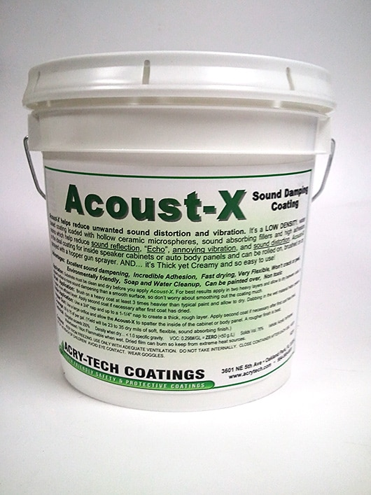 Acoust-X Sound Damping Coating 5 Gallons - Acry-Tech Coatings