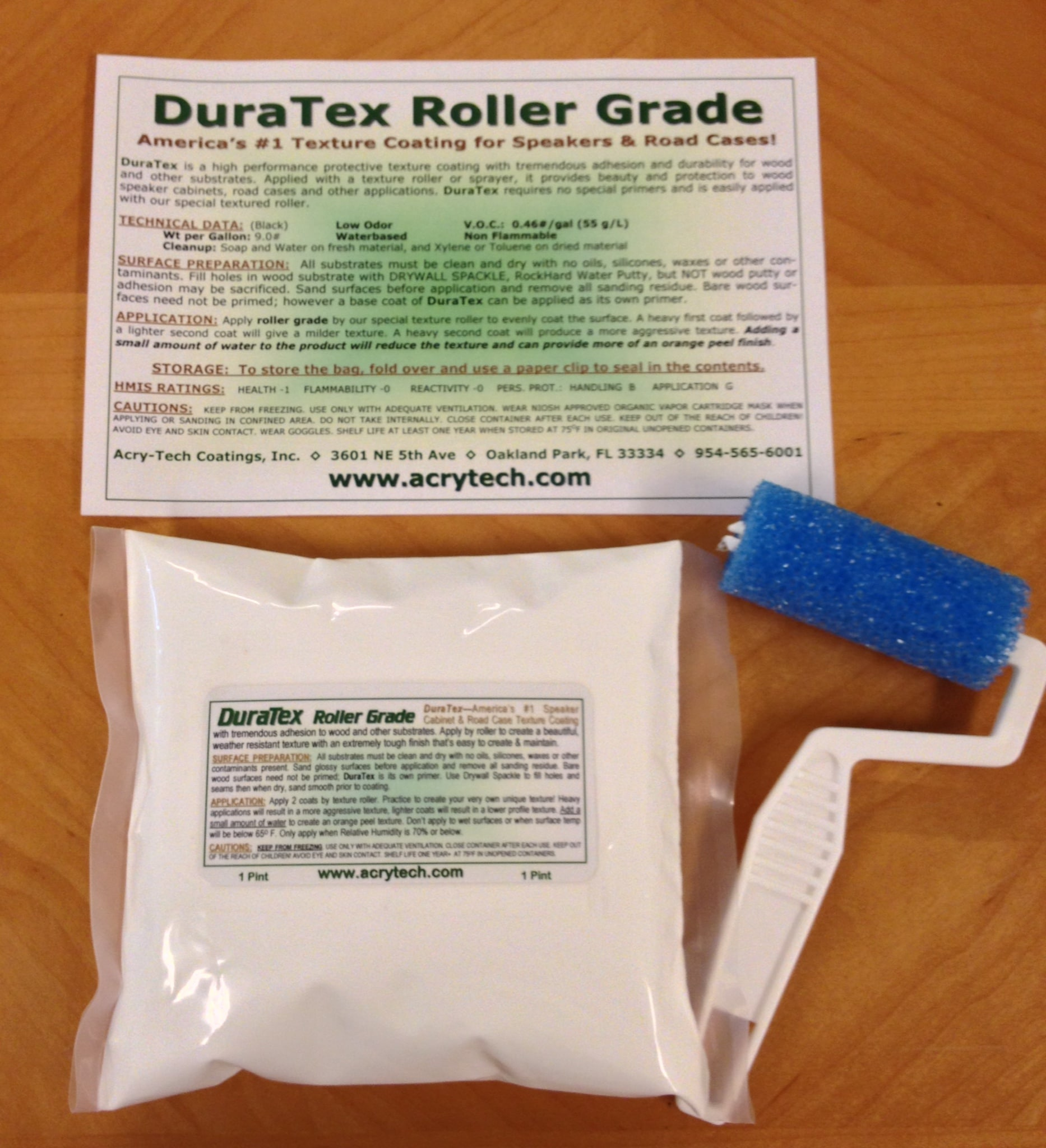DuraTex Speaker Cabinet Texture Coating 1 Pint Trial Size Kit White