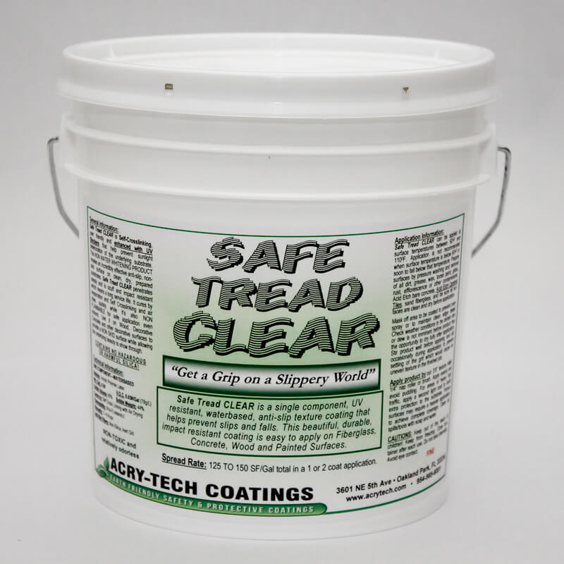 "Safe Tread Anti Slip Coating - Clear ""Fine Grit"" 1 Gallon"