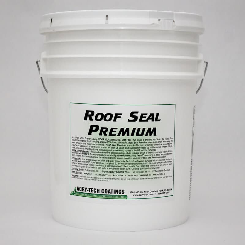 Roof Seal Premium Elastomeric Coating 5 Gallons