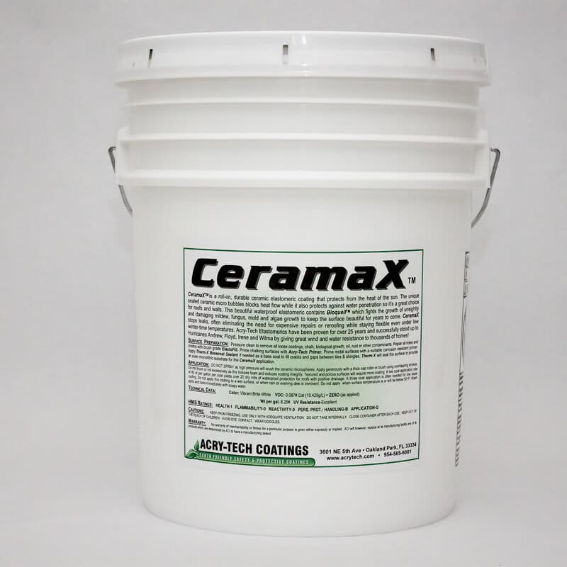 CeramaX Heat Reflective Waterproof Coating 5 Gallons