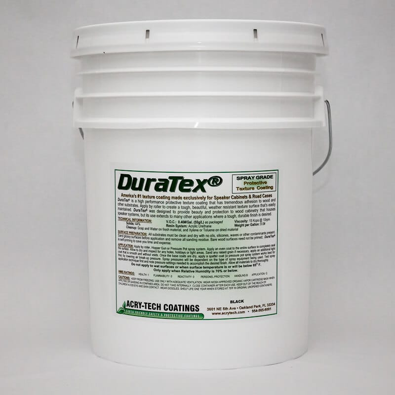 Speaker Cabinet Coating - DuraTex® Spray Grade: Black 5 Gallons